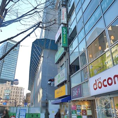 角のビルにレイクALSA店舗があります。