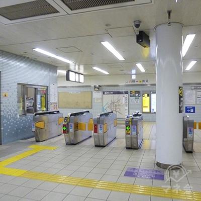 大阪メトロ長堀鶴見緑地線・大正駅の改札口(1ケ所のみ)です。