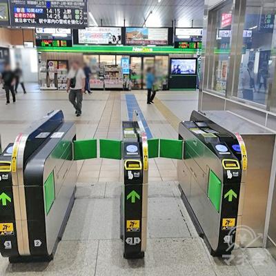 JR土浦駅の改札です。