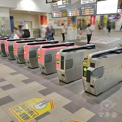 京急川崎駅の改札前です。