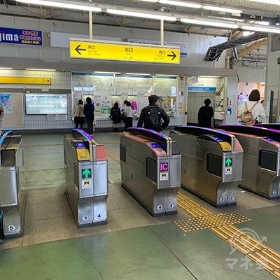 小川駅改札です。