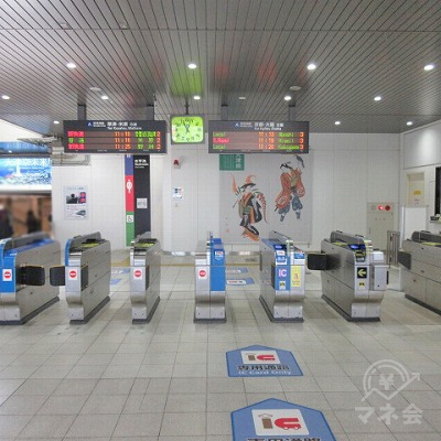 JR東海道本線大津駅北口改札を出ます。