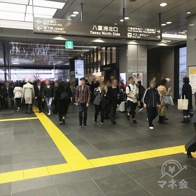 JR東京駅八重洲北口を出ます。