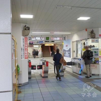 沖縄都市モノレール線(ゆいレール)県庁前駅の改札口です。