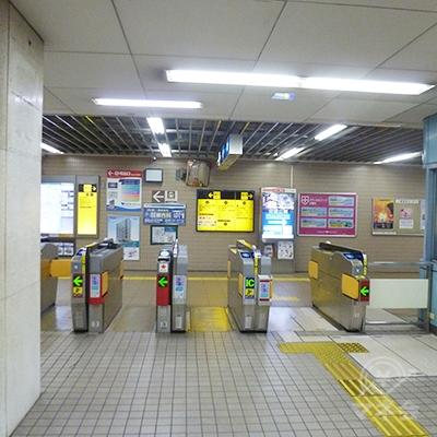 大阪メトロ四つ橋線・住之江公園駅の「南南改札口」です。