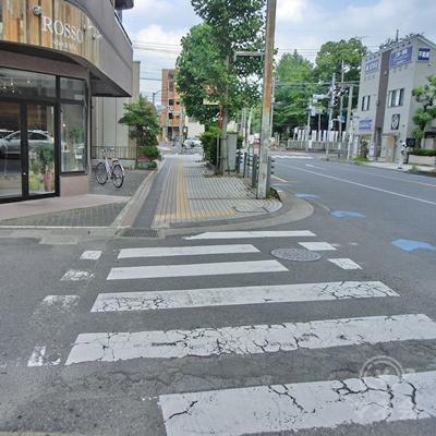 真っすぐに進むと横断歩道があるのでそのまま進みます。