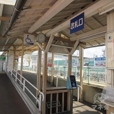 高松琴平電気鉄道志度線、潟元駅改札(1か所のみ)です。