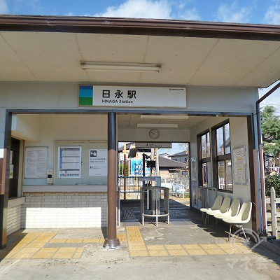 あすなろう鉄道内部線・八王子線の日永駅にて下車します。