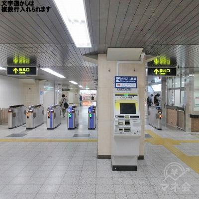 阪急神戸線園田駅の改札を出ます。