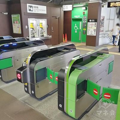 JR磯子駅の改札です。