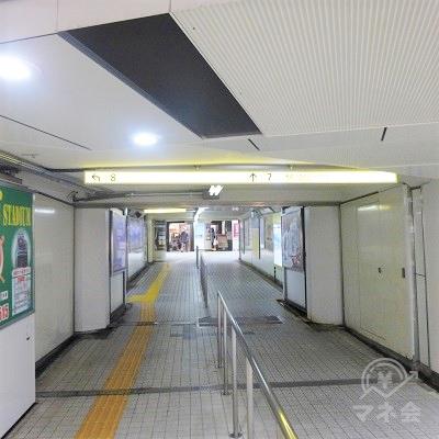 7番出口(東武浅草駅)方面に進みます。