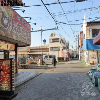 途中、じゃんぼ総本店を通過します。
