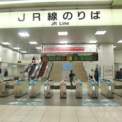 JR東海道本線の静岡駅にて下車します。改札口は1箇所しかありません。