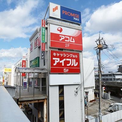 駅から100mほどで、プロミスの入居するビルに到着です。