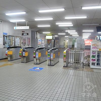 近鉄南大阪線・針中野駅改札口です。1ヶ所のみです。