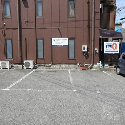 プロミスの駐車場です。
