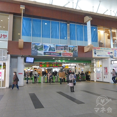 JR上尾駅の改札口です。