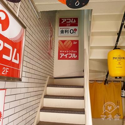 階段で3階に上がりましょう。