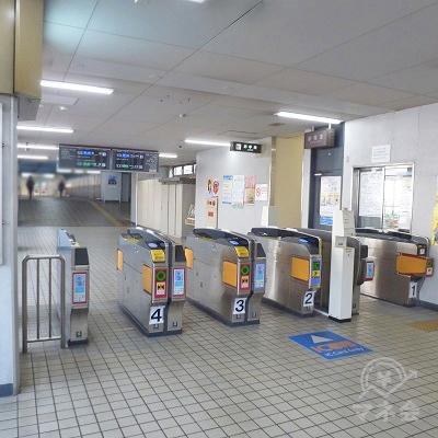 近鉄大阪線・近鉄八尾駅 西出口側改札口です。