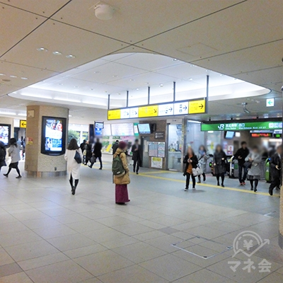 JR恵比寿駅西口です。改札を出て右に進みます。