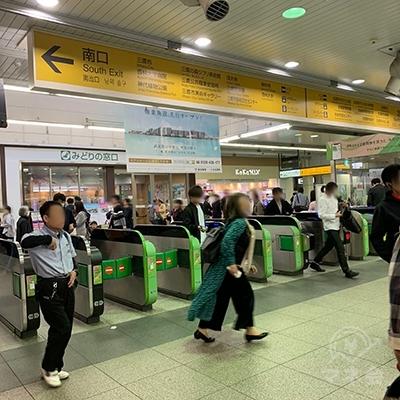 JR三鷹駅の改札です。