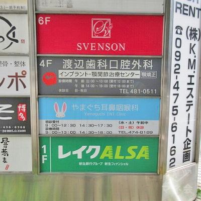 案内板です。レイクALSAは1階にあります。