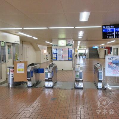 北九州モノレール香春口三萩野駅改札(1つのみ)を出ます。