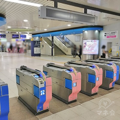 小田急線 大和駅の改札口です。小田急口にあたります。