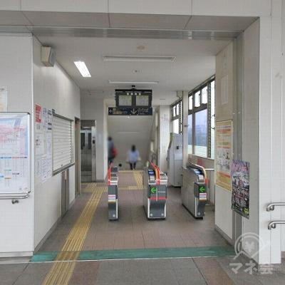 JR筑豊本線本城駅改札(1つのみ)を出ます。