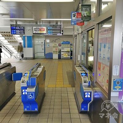 小田急線善行駅の改札です。