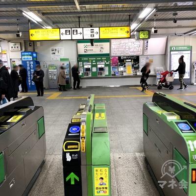 JR北小金駅の改札を出ます。