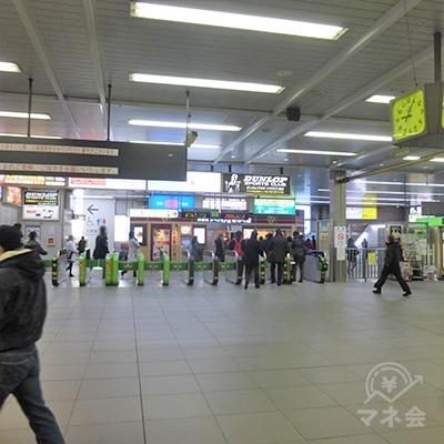 JR川口駅の改札です。