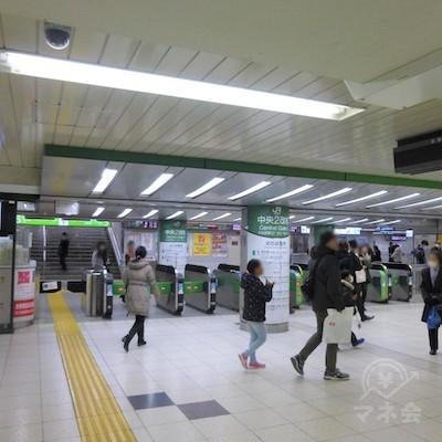 JR池袋駅中央改札です。東武方面に進みます。