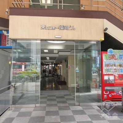 東カン第一福岡ビルの入口です。