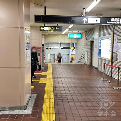 地下鉄東山線の藤が丘駅改札を抜けたら直進します。