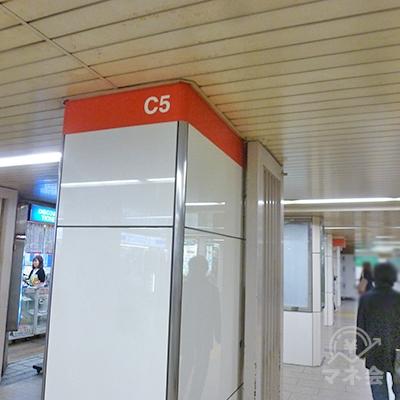オレンジ地に「C5」と書かれたエリアに入ります。