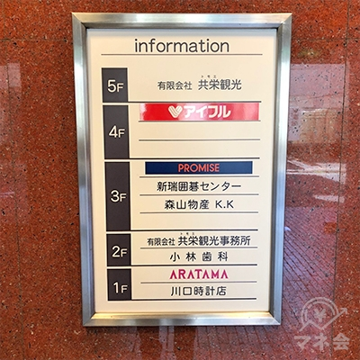 アイフルは共栄ビルの4階にあります。