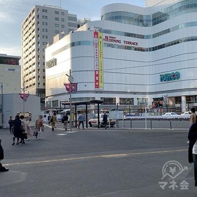 地上に出ると調布駅前広場です。