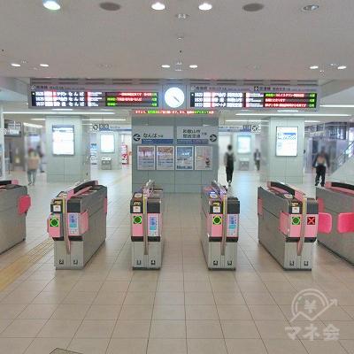 南海本線、空港線、泉佐野駅改札(1つのみ)を出ます。