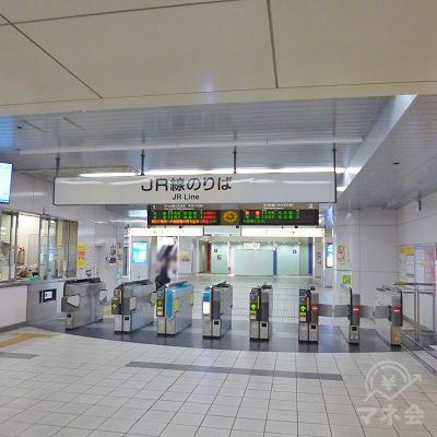 JR中央本線の勝川駅にて下車します。改札口は1箇所のみです。