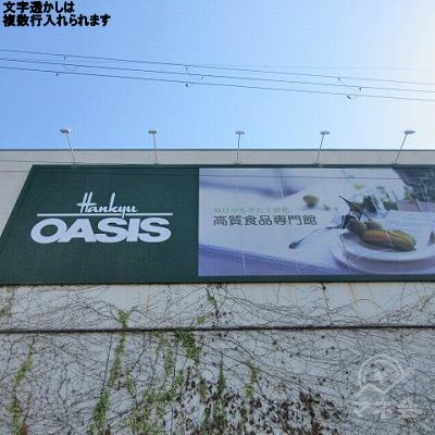 途中、OASISを左手に通過します。