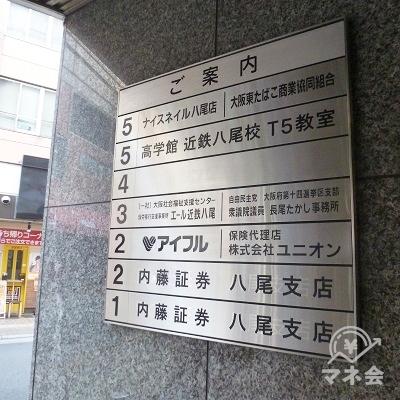 アイフル店舗はビル2階です。