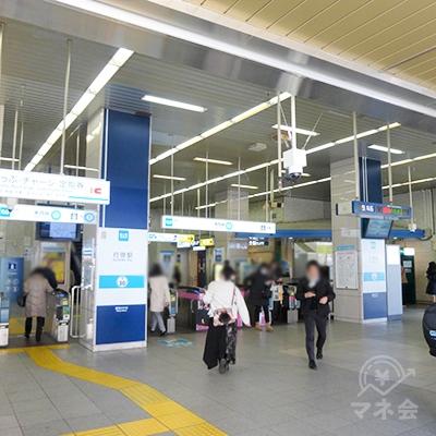 行徳駅の改札口(1か所)です。