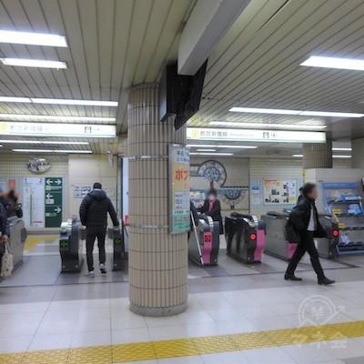 瑞江駅の改札口です。