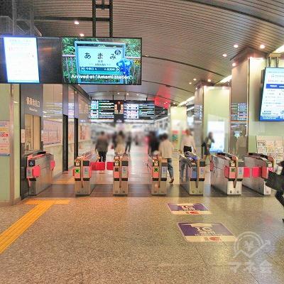 南海空港線、高野線、なんば駅3階北改札を出ます。