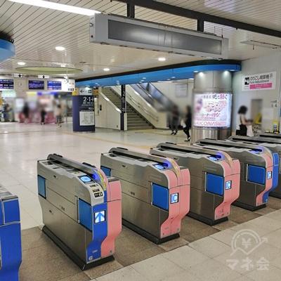 小田急線大和駅の改札口です。小田急口にあたります。