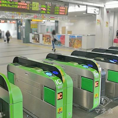 JR上尾駅の改札です。