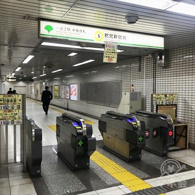 都営新宿線一之江駅中央改札です。