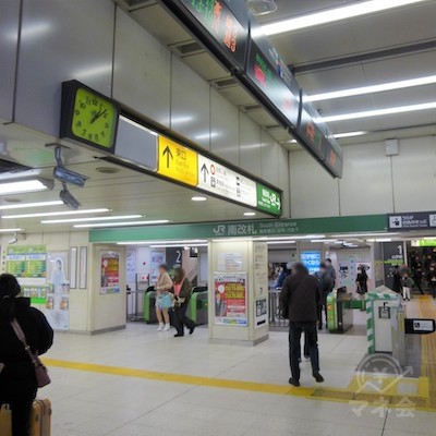 JR渋谷駅の南改札です。南改札は恵比寿寄りです。