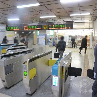 JR中央本線の高蔵寺駅にて下車します。改札口は1箇所のみです。